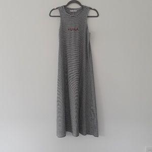 Mango women's long cotton dress